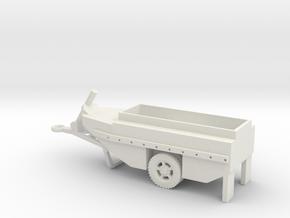 1/72 Scale WCTC-6 Amphibious Trailer in White Natural Versatile Plastic
