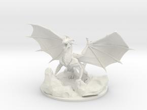 Armored Drake in White Natural Versatile Plastic
