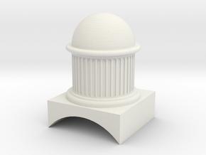 eb wilson dome 7mm scale in White Natural Versatile Plastic