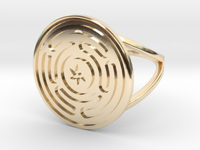 Precious Metal Strophalos Ring in 14K Yellow Gold: 10 / 61.5