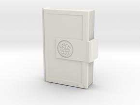 Locked Book  in White Natural Versatile Plastic