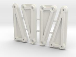 Enduro Cab to Bed Braces in White Natural Versatile Plastic