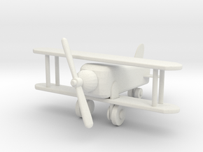 Miniature 1:12 Dollhouse Airplane in White Natural Versatile Plastic: 1:12