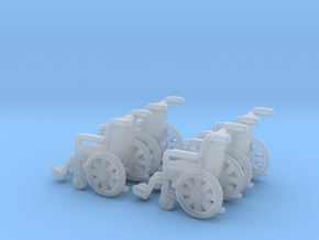 Wheelchair 01.  N Scale (1:160) in Smooth Fine Detail Plastic