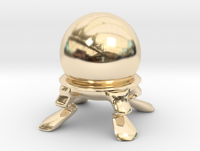 Crystal Ball Miniature in 14k Gold Plated Brass