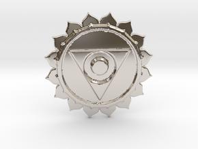 VISHUDDHA THROAT CHAKRA BARTER & TRADE COIN in Platinum