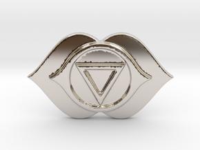 AJNA THIRD EYE CHAKRA BARTER & TRADE COIN in Platinum
