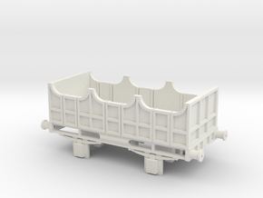 00 Scale Liverpool & Manchester Railway 3rd Coach  in White Natural Versatile Plastic