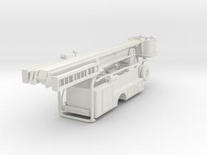 1/87 Single Axle Snorkel Body UPDATED in White Natural Versatile Plastic