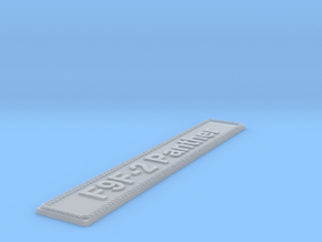 Nameplate F9F-2 Panther in Smoothest Fine Detail Plastic
