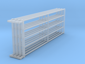 1/64 12ft Freestall barn Gates  in Smooth Fine Detail Plastic