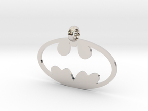 Batman necklace charm in Platinum