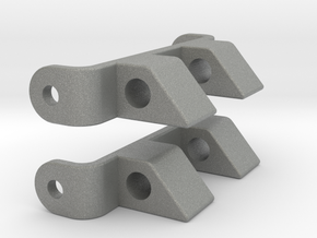 Pebble Steel 20mm & 22mm watch strap connectors in Gray PA12: Small