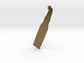 Rifle cartridge (.223 Remington) charm in Natural Bronze