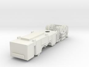 1/87 Pittsburgh Ladder Body Rollup Doors V1 in White Natural Versatile Plastic