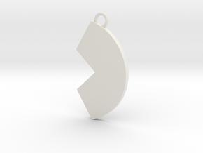 Cosplay Charm - Broken Circle in White Natural Versatile Plastic