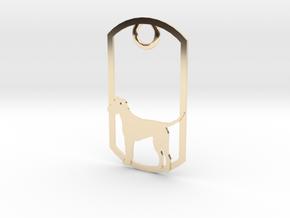 Irish Terrier dog tag in 14K Yellow Gold