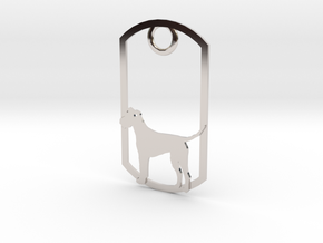 Irish Terrier dog tag in Platinum