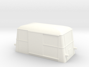 Swedish wagon for railcar UF2 H0-scale in White Processed Versatile Plastic
