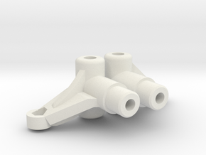 Tamiya Wild Willie M38 Knuckle (pair) in White Natural Versatile Plastic