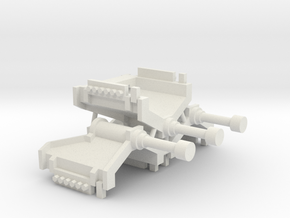 N Gauge RhB Hydraulic buffer stop X3 in White Natural Versatile Plastic