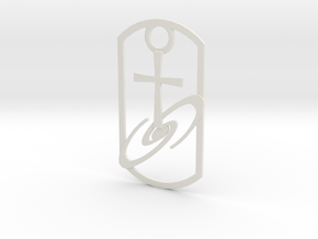 Dogtag-cross-galaxy2 in White Strong & Flexible