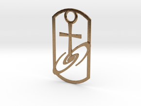 Dogtag-cross-galaxy2 in Natural Brass