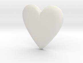 Cosplay Charm - BOP Heart Gem in White Natural Versatile Plastic