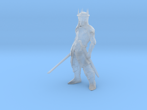HO Scale 2 Sworded Knight in Smooth Fine Detail Plastic