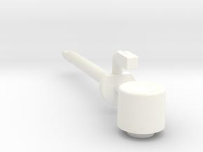 Lancia Delta Trip counter reset SET in White Processed Versatile Plastic