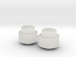 Adjustment Buttons - Plastic in Smooth Fine Detail Plastic