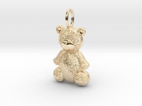 Teddy Bear in 14k Gold Plated Brass