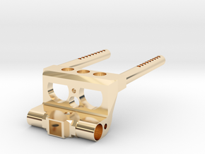 BUMPER AND TRAILER HITCH SUPPORT FOR AXIAL SCX10 in 14K Yellow Gold