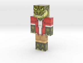 Dino Man | Minecraft toy in Glossy Full Color Sandstone