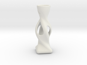 Modern Miniature 1:12 Vase in White Natural Versatile Plastic: 1:12