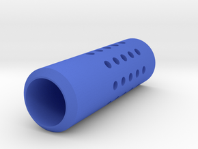 HMP Type II Muzzle (150mm) for Nerf Modulus in Blue Processed Versatile Plastic