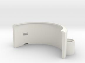 Lego-Compatible Mudguard in White Natural Versatile Plastic
