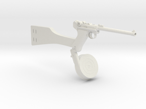 1/3 Scale Artillery Luger in White Natural Versatile Plastic