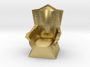 Miniature Throne in Natural Brass