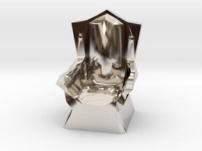 Miniature Throne in Rhodium Plated Brass