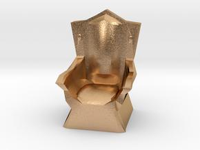 Miniature Throne in Natural Bronze