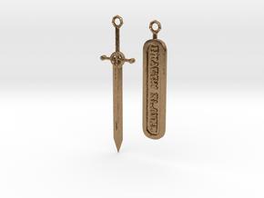 Dragonslayer Pendant in Natural Brass
