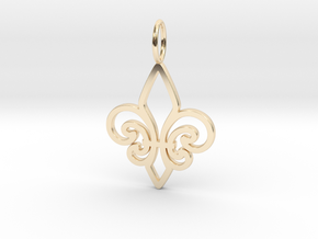 Fleur De Lis in 14K Yellow Gold