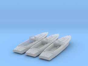 1/160th (N scale) 3 x PG-117 motor boats in Smooth Fine Detail Plastic
