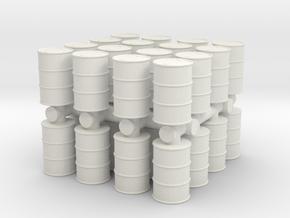 Oil Barrel (x32) 1/120 in White Natural Versatile Plastic