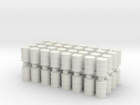 Oil Barrel (x64) 1/160 in White Natural Versatile Plastic