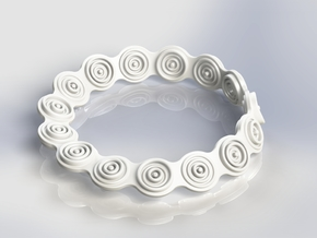 Mobius Polarity Bracelet in White Processed Versatile Plastic