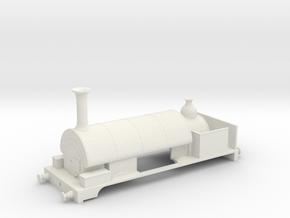 Cambrian saddle tank in White Natural Versatile Plastic