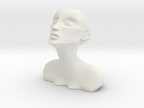 Modern Sculpture Design in White Natural Versatile Plastic: Small