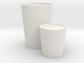 Decorative Candles Set in White Natural Versatile Plastic